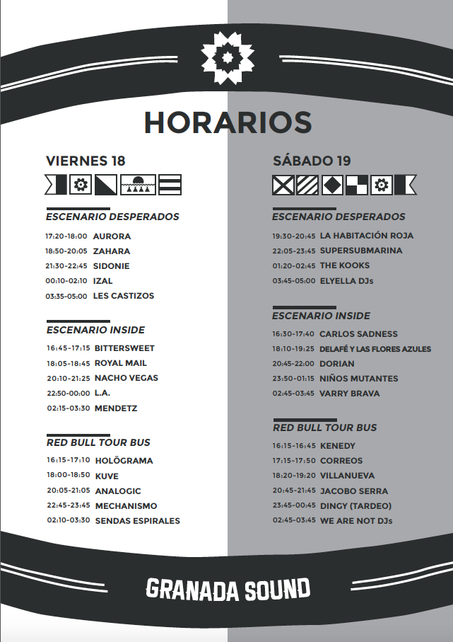 horarios Granada Sound
